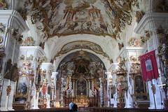 Burghausen: Klosterkirche Raitenhaslach (Helgoland01) Tags: burghausen bayern deutschland germany oberbayern kirche church raitenhaslach kloster zisterzienser barock