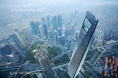 Bird's Eye View from Shanghai Tower (PhotoDG) Tags: shanghai city cityscape birdseye skyscraper building tower architecture 上海中心大厦 jinmaotower shanghaiworldfinancialcenter pudong huanpu river 金茂大厦 上海环球金融中心 china 上海