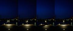 Vänersborg Marina (BÖ) Tags: vänersborg vänern steg pier bro marina yachthafen schweden sweden sverige catwork web nacht night natt ich me jag lätt licht light port