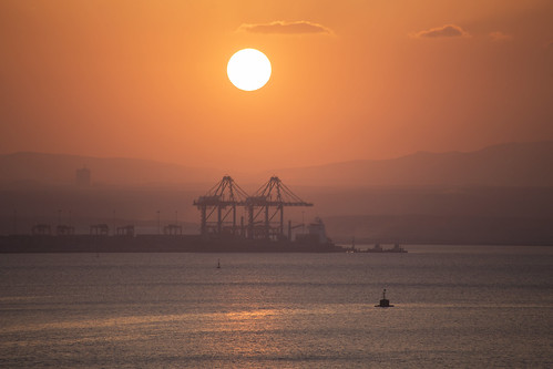 Sunset at the harbour - Djibouti
