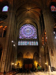 Notre-Dame de Paris (DaDa 1127) Tags: notredamedeparis notredamede paris europe architecture architectural church amazing beautiful beauty light landmark france window lights city cityscape indoor indoors warm colorful color colorimage tone glass