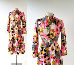 1970s Wildblumen floral print dress (Small Earth Vintage) Tags: smallearthvintage vintageclothing vintagefashion dress 1970s 70s floralprint