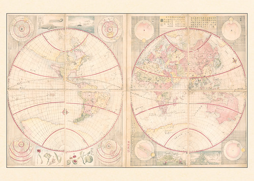 21-Affiche // 50x70cm // Japan Globe Map