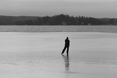 dont go there (kalsink) Tags: eos 6d ice skater 70200 f4l bw