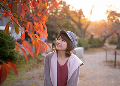 Young woman enjoying with autumn leaf colors (Apricot Cafe) Tags: ap2a3124 asia beautifulpeople japan japaneseethnicity kyotocity kyotoprefecture maruyamaparkkyoto millennialgeneration sigma35mmf14dghsmart autumn backlit beret coat colorimage copyspace elegance gion leisureactivity lifestyles lookingup nature oneperson oneyoungwomanonly people photography publicpark