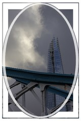Beyond the Bridge (Audrey A Jackson) Tags: canon60d london towerbridge theshard architecture history clouds sky