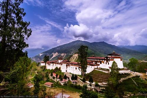 Trongsa Town - View of the Trongsa Dzong
