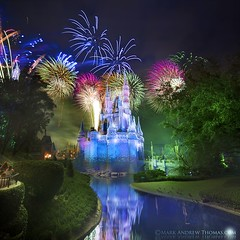 Disney's Fantasy in the Sky Fireworks (DirectX1) Tags: disneyafterdark florida travel disneycelebration newyearsevedisney cinderellacastle cinderellacastlefireworks disney photography