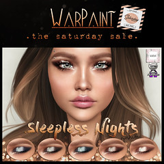 WarPaint @ TheSaturdaySale (Mafalda Hienrichs) Tags: warpaint war paint saturday sale catwa omega sleepless nights eyeshadow applier makeup secondlife