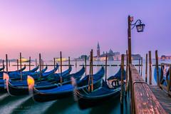 Venice - Italy (figatz) Tags: venice venezia italy italia sunrise beautiful veneto travel nikon tokina d5300 gondolas boats colorful photography earlybird longexposure church water