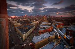 Chicago Flatiron (matthucke) Tags: chicago architecture flatironbuilding robey wickerparkchicago damen chicagoel ctadamen