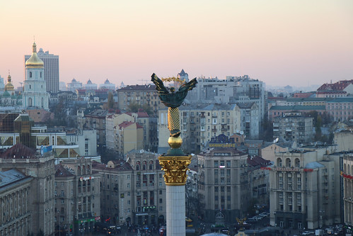 Independence monument. Maidan Square, Kiev. Ukraine, From FlickrPhotos