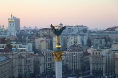 Independence monument. Maidan Square, Kiev. Ukraine