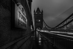 The Bridge... (Aleem Yousaf) Tags: tower bridge london morning monochrome black white foggy mist traffic trails long exposure city cityscape nikon nikkor 1835mm wide angle d810 daily life photography plaque cityoflondon historic monument photo walk day cars downtown street film noir november winter light shadows sign digital camera world outside outdoors picture
