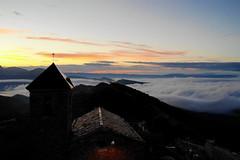 Santa Engracia (Katya_N) Tags: church clouds mountains nature santaengrasia sky spain sunrise