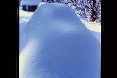 1973 VW Super Beetle (John D. Hansen) Tags: snow vw 1973 wrightwood blizzard beetle bug white cold