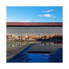 Boatyard Shadows and Reflections... (roylee21918) Tags: boating reflection shadow blue marina rust dxo photolab
