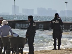 Policia Federal (knightbefore_99) Tags: mexico mexican mujeres island isla tropical caribbean awesome azul blue cool policia federal cell beach playa call phone