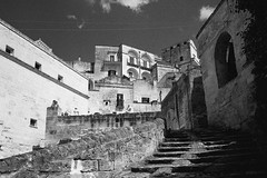 Sasso Barisano, Matera, Basilicata, Italy (Postcards from San Francisco) Tags: ma 21mmsem berggerpancro400 film analog matera basilicata italia