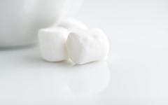 Mini Marshmallows (Mandy Willard) Tags: macromonday whiteonwhite marshmallow white plate bowl