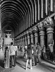 GSCF9092-2 (Deepak Kaw) Tags: fujifilm composition monochrome blackwhite people travel india caves buddhist