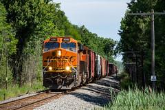 """Inbound from """"The Soo"""" (conrail6809) Tags: bnsf ge es44ac es44dc gevo es44c4 cn canadian national railway railroad train trains howard wi wisconsin green bay railfan railfanning lineville"""