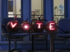 Kate's VOTE Pumpkins (amyboemig) Tags: vote pumpkins jackolanterns halloween