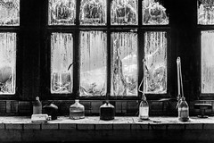 Abandoned Place (Michael Fonder) Tags: sony alpha 7riii a7riii black white old abandoned bottles experiment destroyed blackandwhite