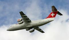 BAe146 | HB-IYZ | AMS | 20040912 (Wally.H) Tags: bae146 british aerospace 146 rj100 hbiyz swisseuropeanairlines ams eham amsterdam schiphol airport