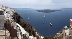 Панорама кальдеры Санторини.  Panorama of the Santorini Caldera, Thira. (atardecer2018) Tags: санторини греция 2016 santorini greece city sea seascape paisaje архитектура architecture arquitectura