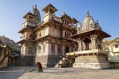 Jagat Shiromani Temple (grantthai) Tags: india amer rajasthan temple mogul mughal krishnameera krishna meera jaipur woman cleaning marble sandstone ancient hindu jagatshiromani shiromani jagat hadipura