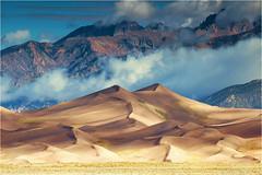 Great Sand Dunes NP (Sandra Lipproß) Tags: greatsanddunesnp colorado nationalpark usa sanddunes mountain range clouds landscape nature outdoor rockymountains