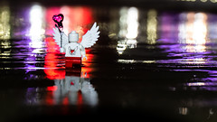 Love Angel (Ballou34) Tags: 2018 7dmark2 7dmarkii 7d2 7dii afol ballou34 canon canon7dmarkii canon7dii eos eos7dmarkii eos7d2 eos7dii flickr lego legographer legography minifigures photography stuckinplastic toy toyphotography toys stuck in plastic love heart angel water red purple wings night