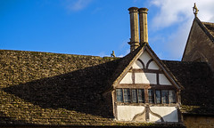 Lacock Abbey roof (c.richard) Tags: lacockabbey nationaltrust wiltshire rooftops chimneys