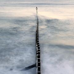 Alone (PeskyMesky) Tags: aberdeen aberdeenbeach longexposure water sea ocean groyne canon canon6d eos
