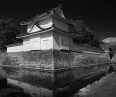 Along the Watchtower (Tim Ravenscroft) Tags: castle nijo kyoto watchtower moat japan hasselblad hasselbladx1d