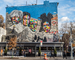 """""""Mount Rushmore with Andy Warhol, Frida Kahlo, Keith Haring and Jean-Michel Basquiat"""" Mural (2018) by Eduardo Kobra, Chelsea, New York City (jag9889) Tags: 10av 10ave 10thavenue 2018 20181203 andywarhol architecture artist auto automobile brazil building car chelsea color diner eduardokobra empirediner face frida fridakahlo graffiti house kahlo keithharing kobra manhattan mexican monumental mountrushmore mural muralist ny nyc newyork newyorkcity outdoor painter painting people portrait post sign signpost streetart streetartist tagging tenthavenue text transportation usa unitedstates unitedstatesofamerica vehicle wall window jag9889"""