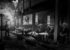 Village market (Massetti Fabrizio) Tags: marcket bw street cina china fabriziomassetti famasse people humans village longsheng guilin guangxi hamlet borough