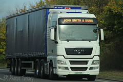 MAN John Smith & Sons DA11 TZX (SR Photos Torksey) Tags: transport truck haulage hgv lorry lgv logistics freight road commercial vehicle traffic man john smith