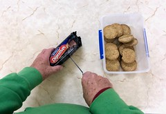 Opening a packet of biscuits 353/365 (4) (♔ Georgie R) Tags: biscuits crawleycameraclub tilgate crawley sussex