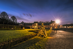 Happiness (Sizun Eye) Tags: chateau decoration christmas night bluehour iledefrance france vauxlevicomte nikon 1424mm nikon1424mmf28 nikkor nikond750 d750 le longueexposure seineetmarne