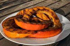 Grilled pumpkin (Melissa Maples) Tags: ludwigsburg deutschland germany europe apple iphone iphonex cameraphone orange pumpkin food table plate