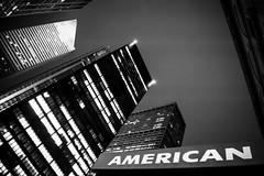 American (Airicsson) Tags: american america sign avenue park street urban cold manhattan skyline cityscape bw citicorp building abstract vertigo night light gotham usa