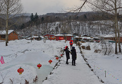 Snow village in Mohe County, China (phuong.sg@gmail.com) Tags: asia background beautiful blue building cabin china christmas cold colorful cottage country countryside cover fairytale farm fence field forest frost holiday home house hut landscape late nature old rainyday scene scenery scenic season sky snow snowfall snowy sun travel trees vacation village vintage white winter wood wooden