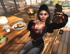 let me take a BBQ (UGLLYDUCKLING Resident) Tags: secondlife sl avatar avi girl brunette virtual world bbq scenery fashion style ootd hair garden house home sun light natural smile selfie phone blogger ugllyduckling catwa maitreya posemaniacs scandalize cynful mila revoul fabia
