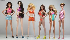 Doll Comparison (valleyofthedolls) Tags: doll barbie integritytoys tbleague phicen