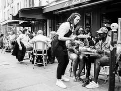 Serving lunch (robert.walter) Tags: streetphotography street streetmoments streetlife streetphoto streetphotographers streetview bnwstreet 35mmstreetphotography paris