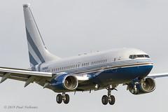 N108MS BBJ Las Vegas Sands Corp (Anhedral) Tags: n108ms boeing bbj 737700 lasvegassandscorp corporate einn snn shannonairport 33102