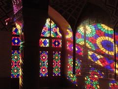 Masjed-i Nasir al-Mulk (**yukiko**) Tags: shiraz pink mosque مسجد نصیر الملک – masjed e nasir ol molk light shadow reflection architecture muslim colori riflessi moschea iran persia