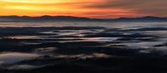 Early Morning (R. Keith Clontz) Tags: catawbavalley pano panorama mist fog sunrise red orange flowing dreamscape northcarolina linvillegorge shortoffmountain nebo morganton keithclontz